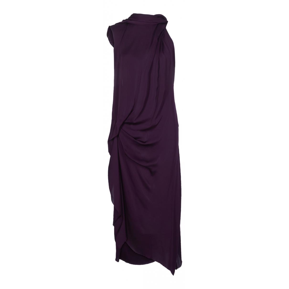 Lanvin N Purple Silk dress for Women 12 UK