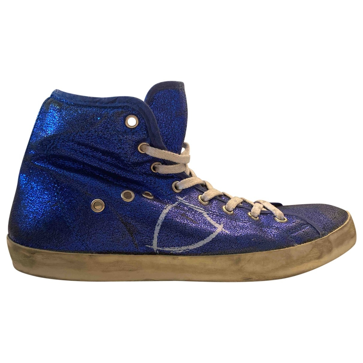 Philippe Model \N Blue Leather Trainers for Women 40 EU