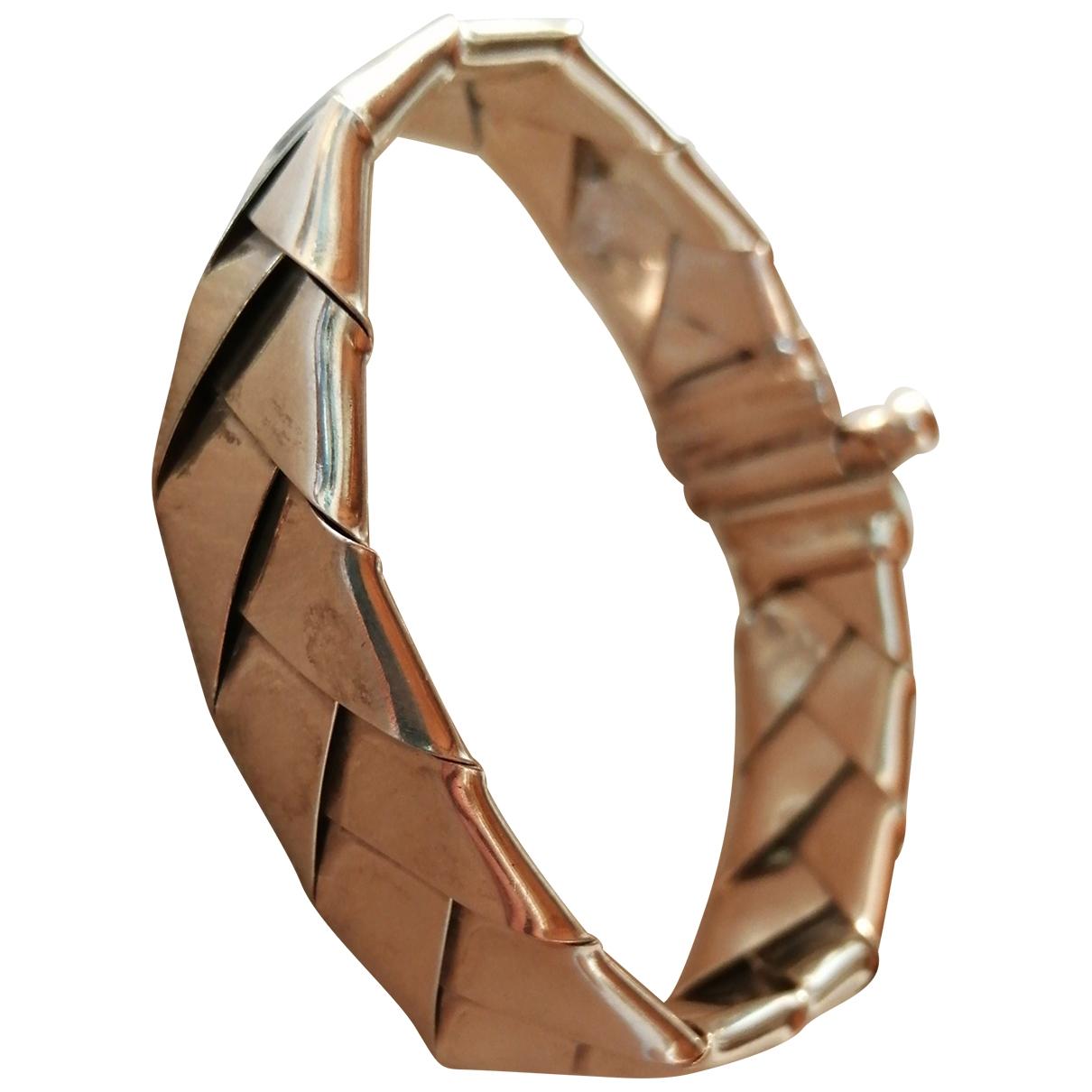 Non Signé / Unsigned Gourmette Silver Silver bracelet for Women \N