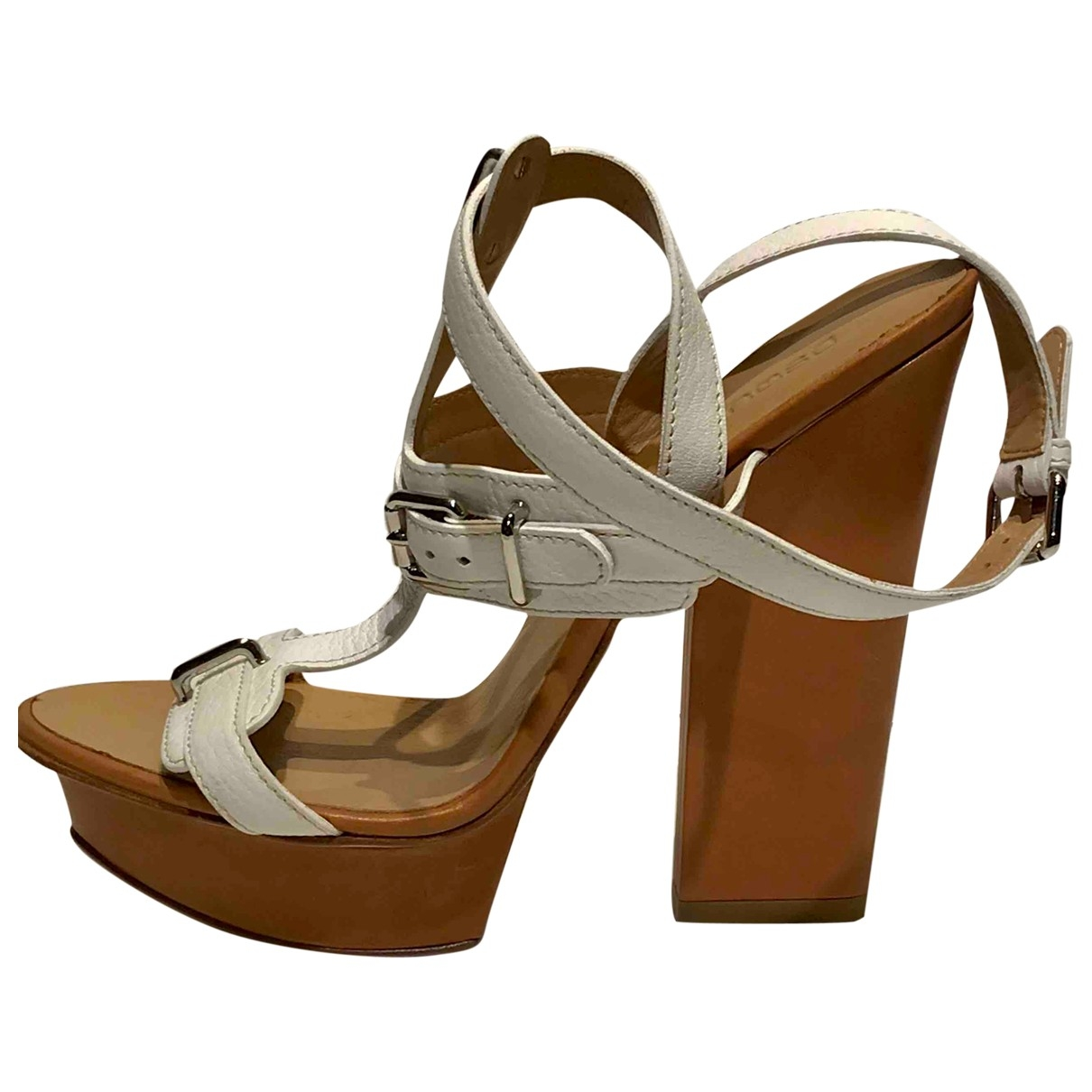 Dsquared2 \N White Leather Sandals for Women 41 EU