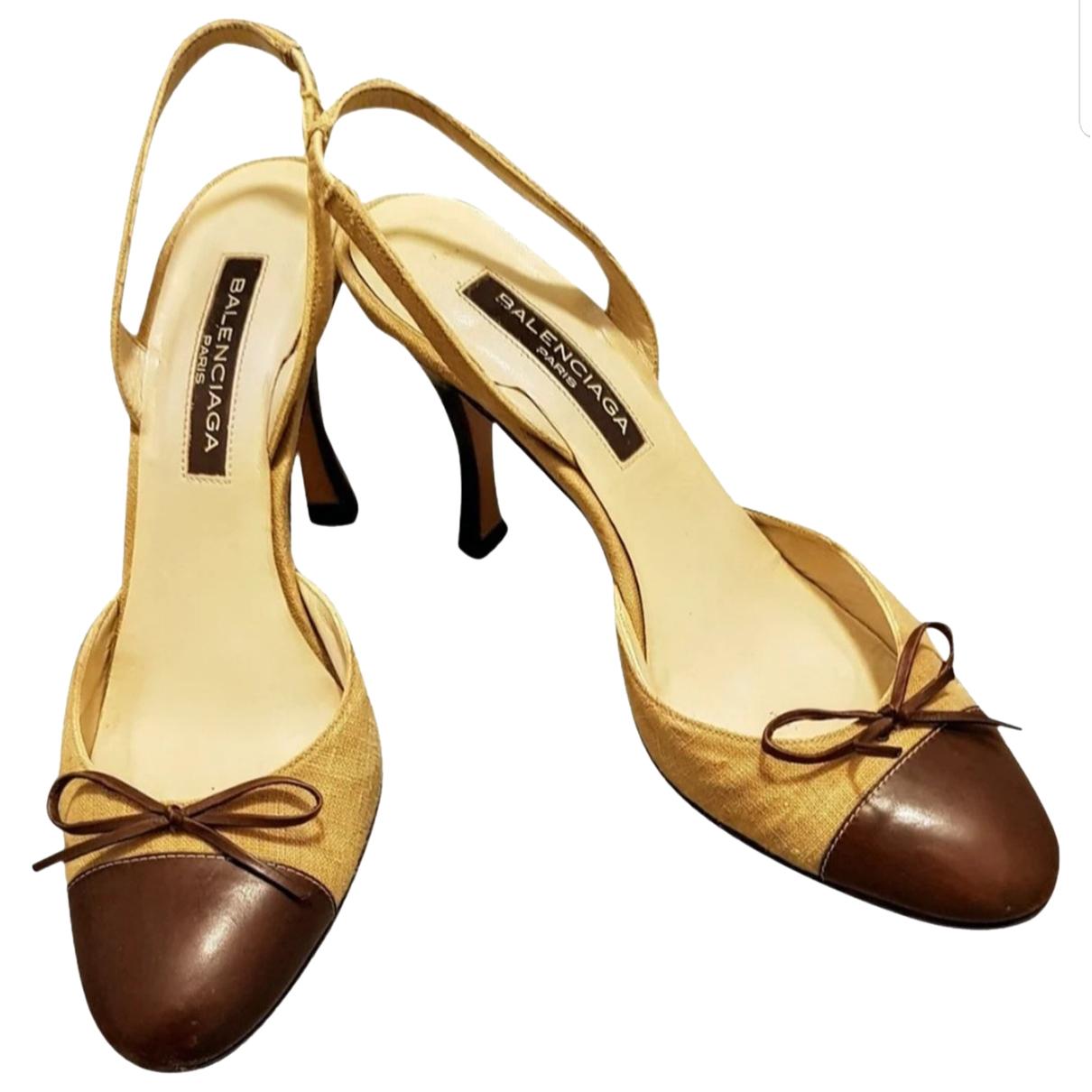 Balenciaga - Sandales   pour femme en cuir - beige