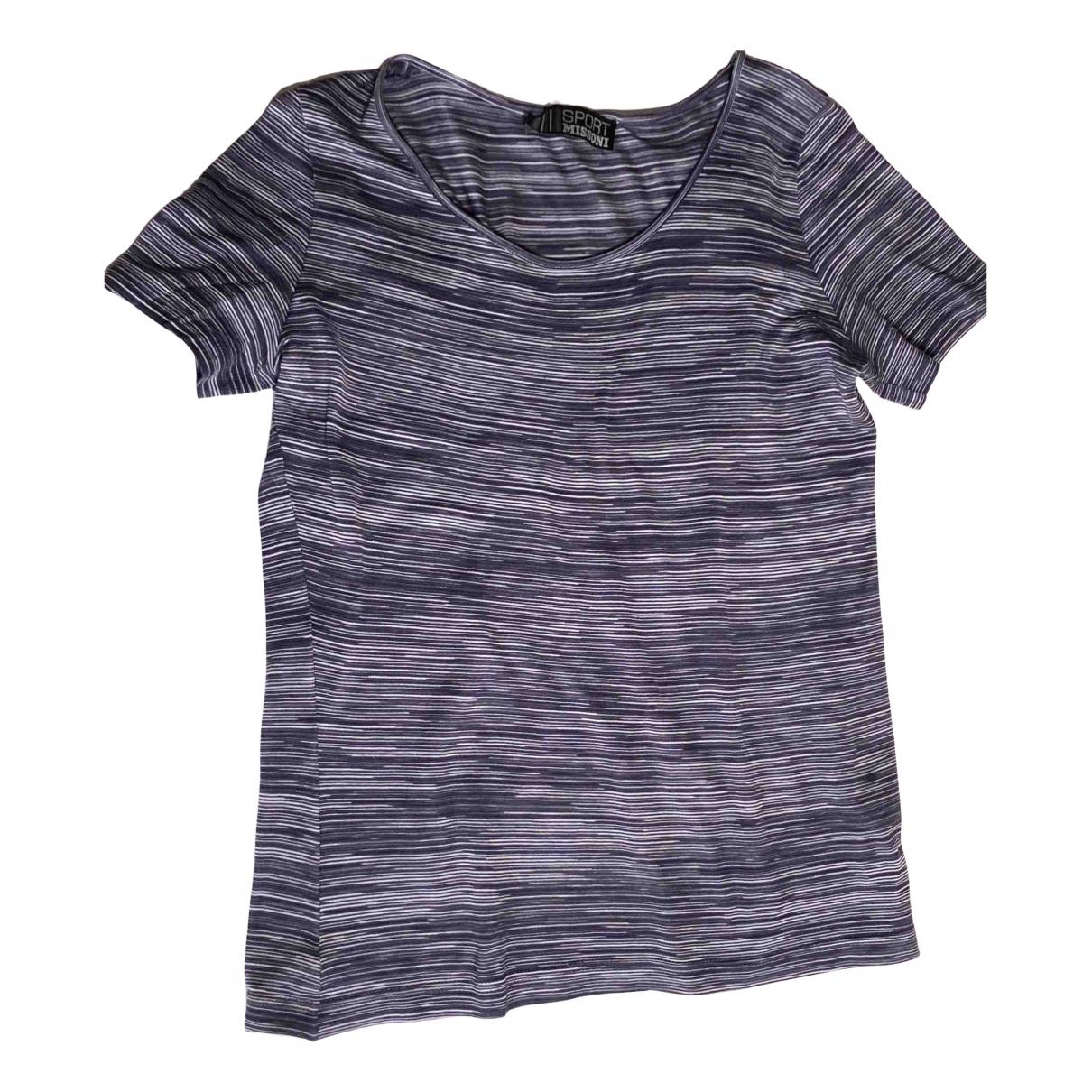 Missoni - Top   pour femme en coton - bleu