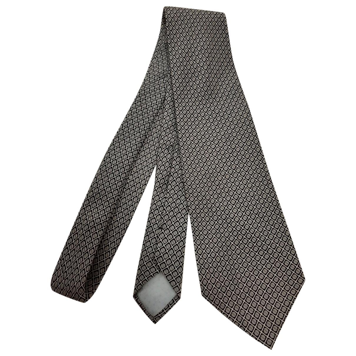 Yves Saint Laurent \N Krawatten in  Grau Seide