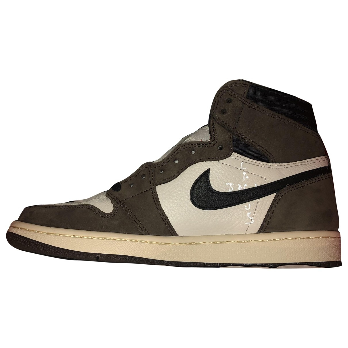 Nike X Travis Scott Air Jordan 1 Sneakers in  Braun Leder