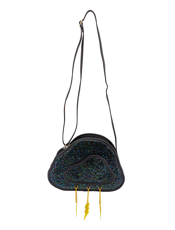 Kostuemzubehor Tasche Wolke mit Blitz Farbe: schwarz