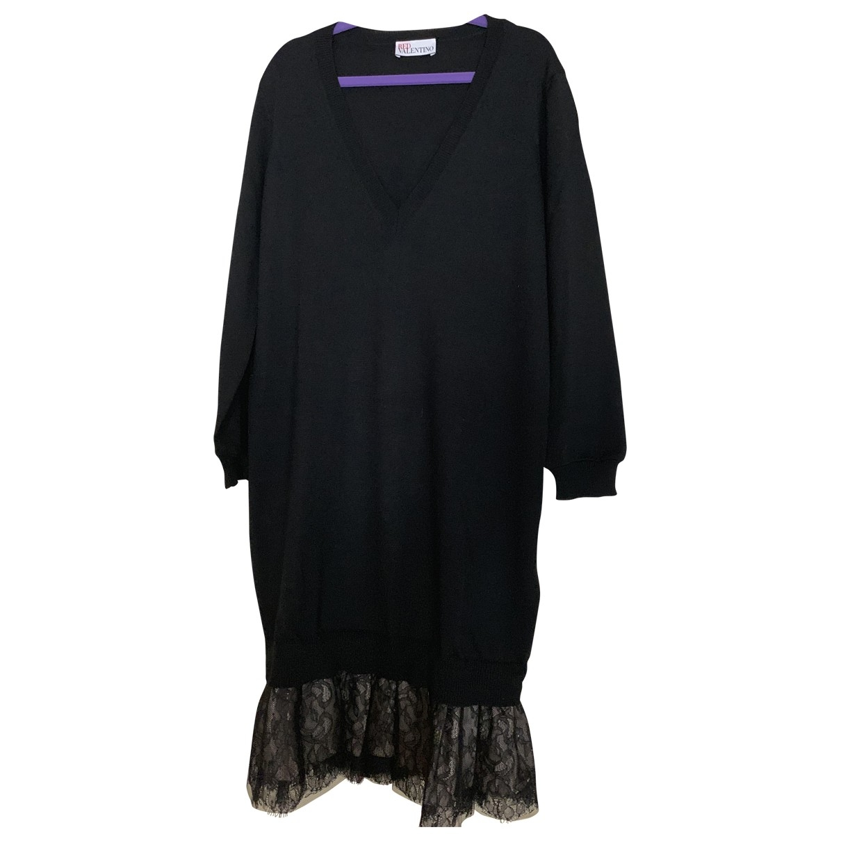 Red Valentino Garavani - Pull   pour femme en laine - noir
