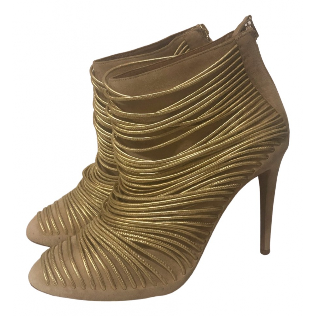 Aquazzura - Boots   pour femme en suede - beige