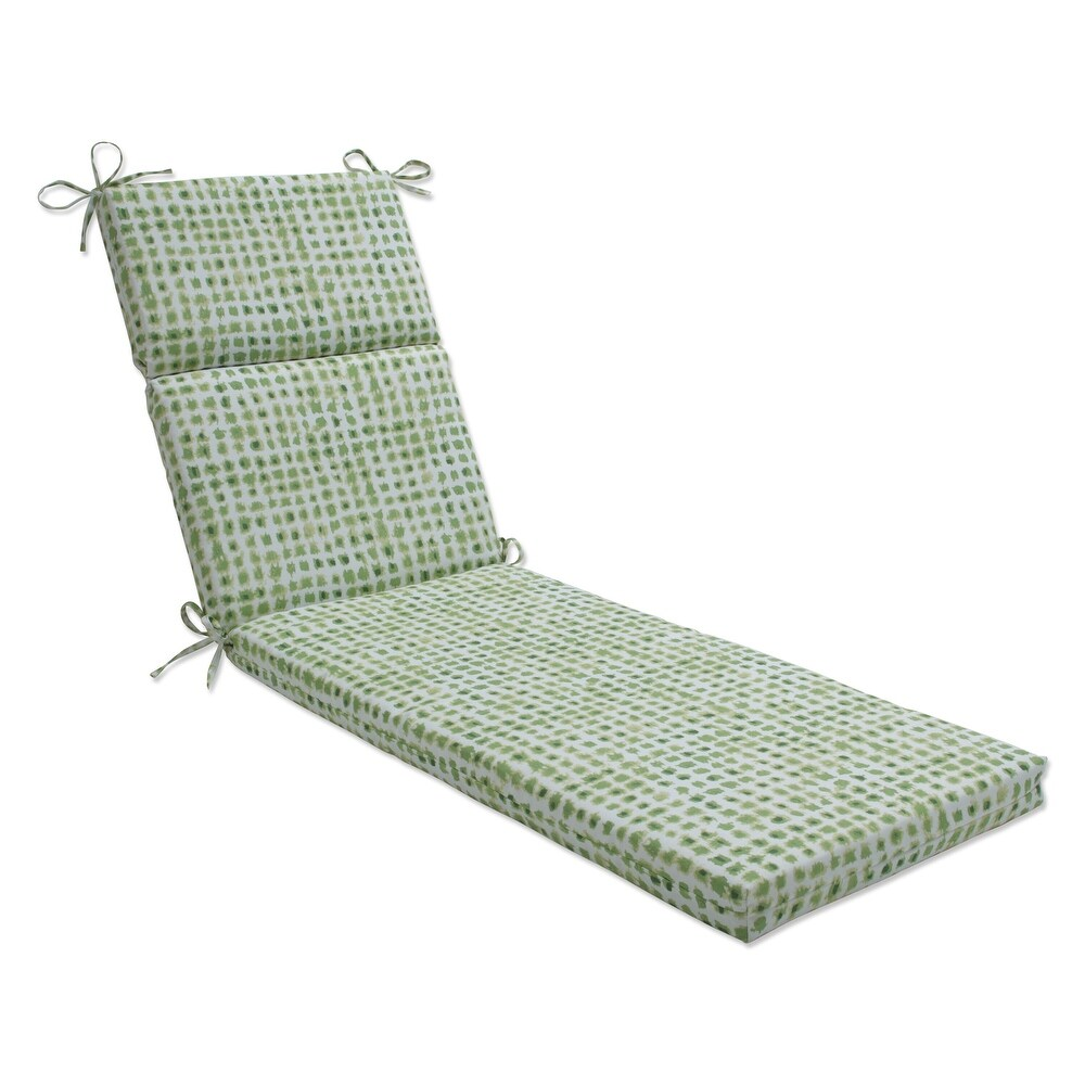Pillow Perfect Outdoor | Indoor Alauda Grasshopper Chaise Lounge Cushion 72.5 X 21 X 3 (Green)