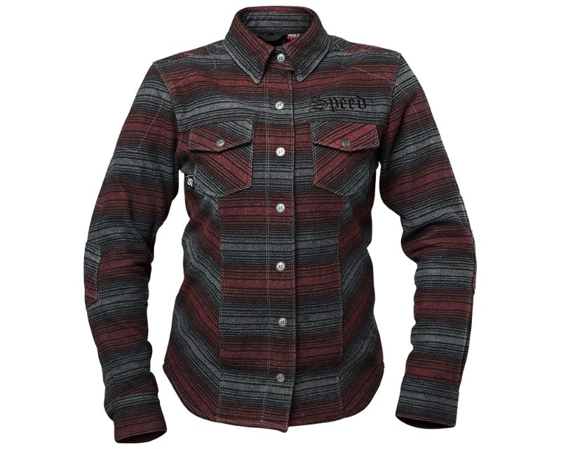 Speed and Strength 885302 Brat Armored Flannel Burgandy WXS