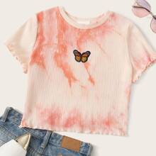 Butterfly Patched Tie Dye Tee