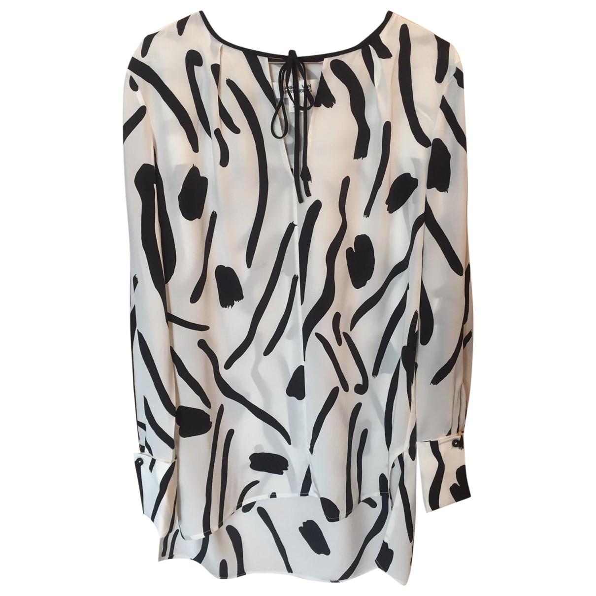 Diane Von Furstenberg - Top   pour femme en soie - blanc
