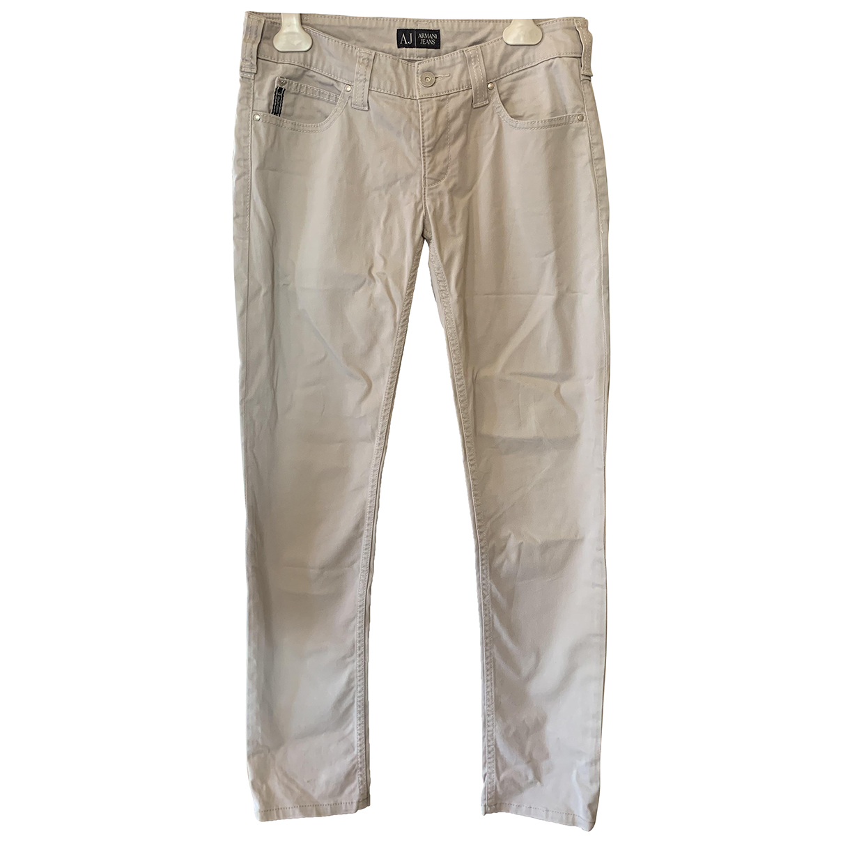 Armani Jeans N Grey Cotton Trousers for Women 40 IT