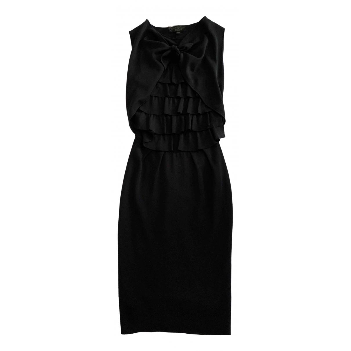 Giambattista Valli \N Black Silk dress for Women 40 IT