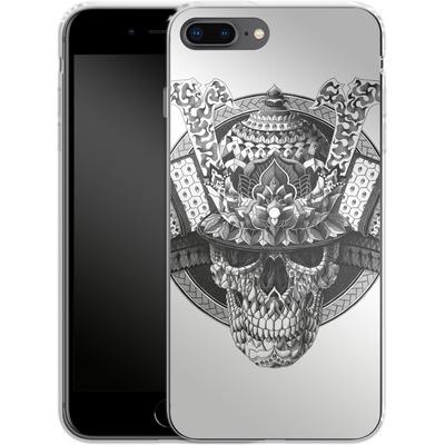Apple iPhone 8 Plus Silikon Handyhuelle - Samurai Skull von BIOWORKZ