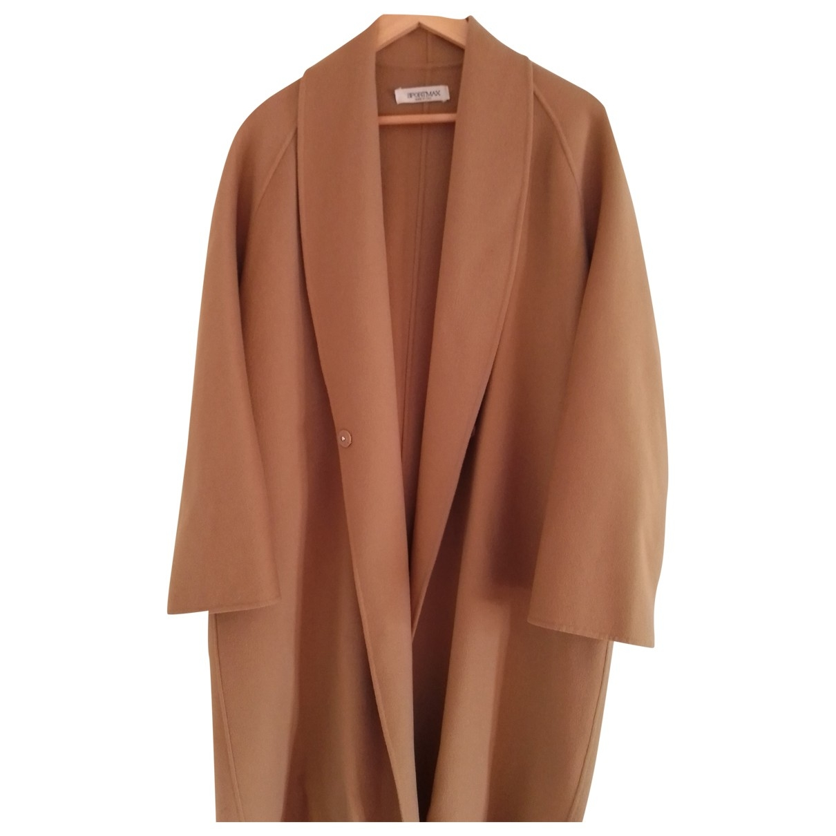 Sport Max \N Camel Wool coat for Women 42 IT