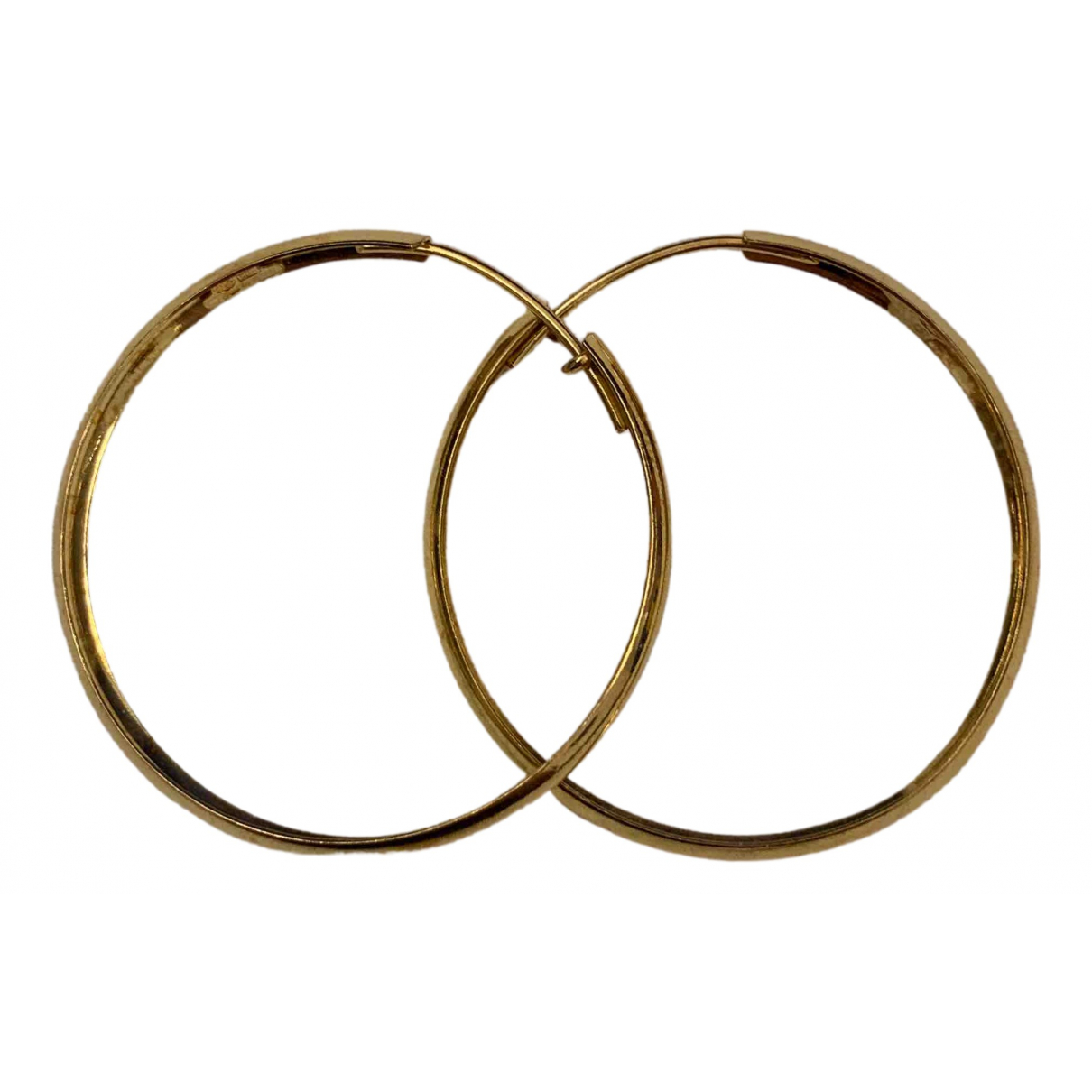 - Boucles doreilles Creoles pour femme en plaque or - dore