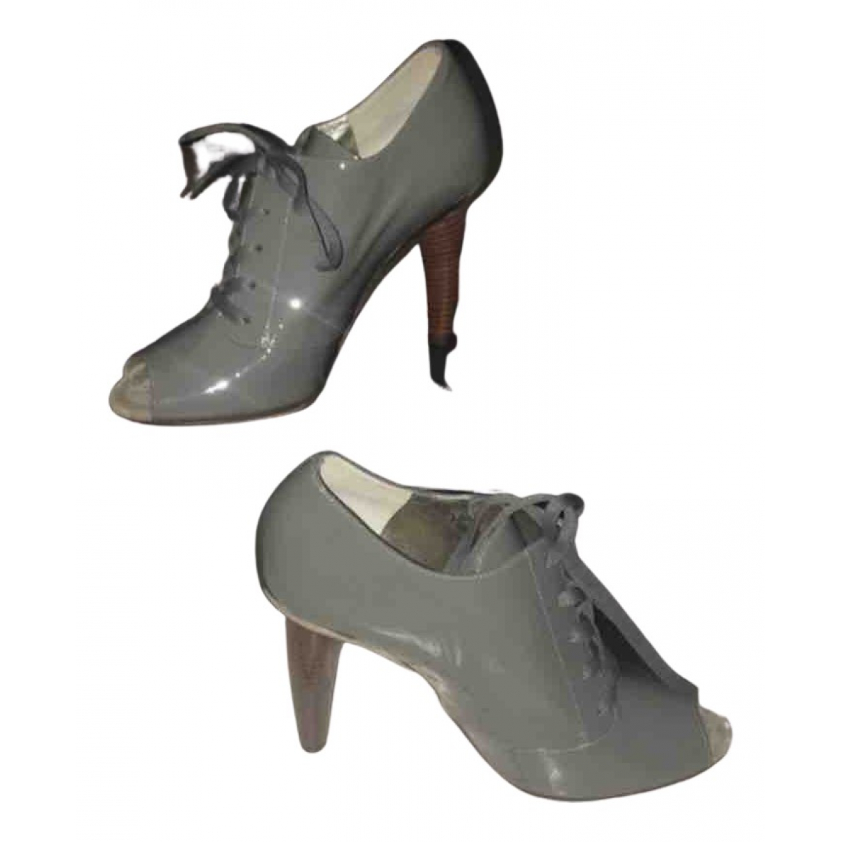 D&g N Grey Patent leather Ankle boots for Women 36 EU