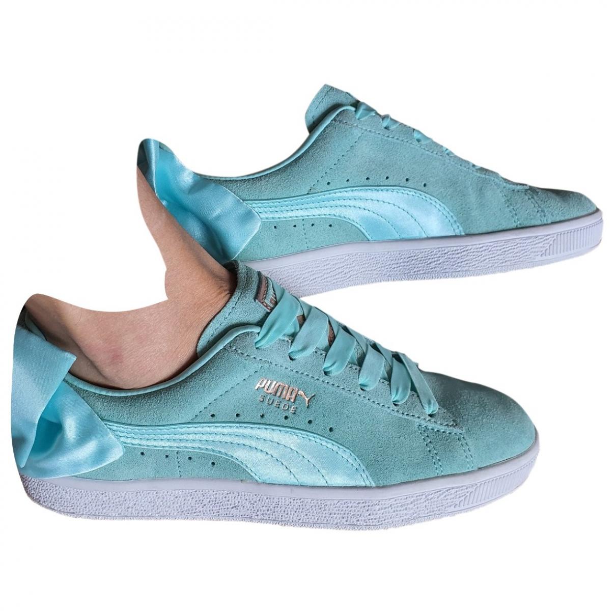 Puma \N Sneakers in  Tuerkis Veloursleder
