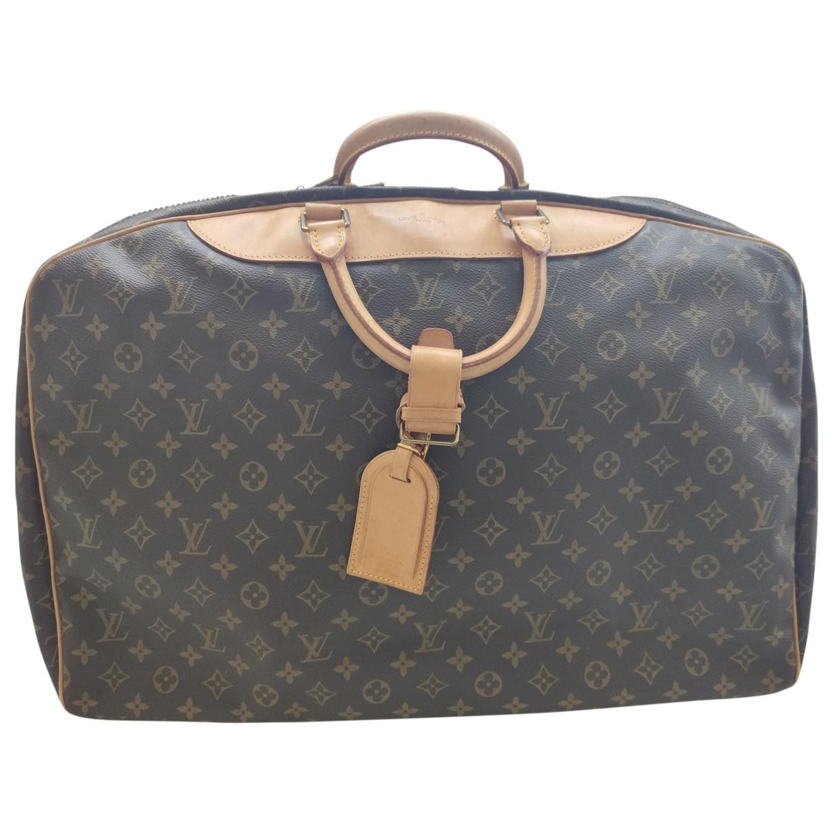 Louis Vuitton - Sac de voyage Alize pour femme en toile - marron