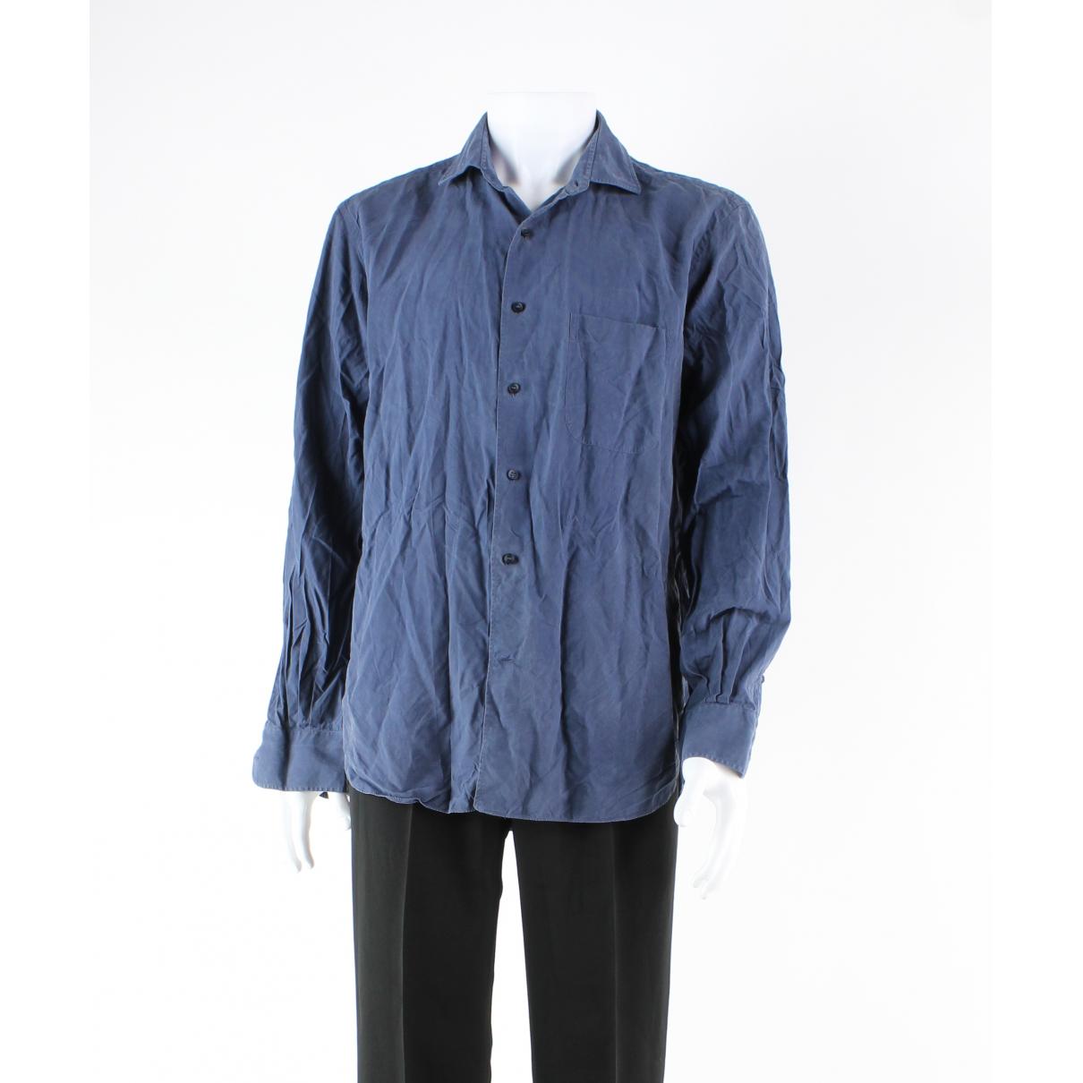 Loro Piana - Polos   pour homme en soie - bleu