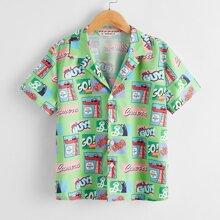 Hemd mit Pop Art Muster