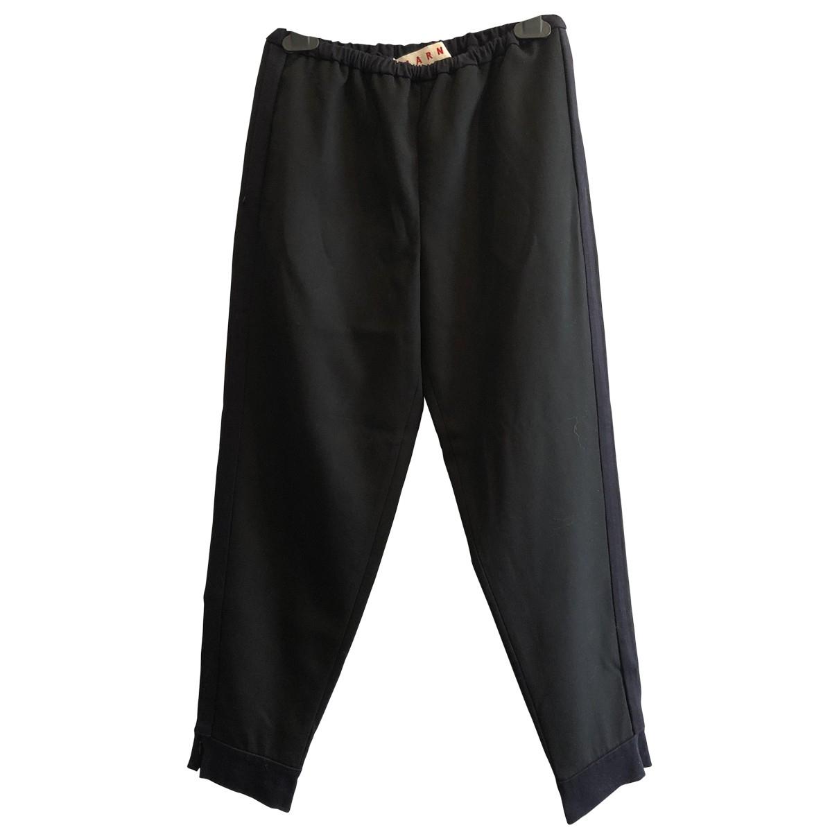 Marni \N Black Wool Trousers for Women 40 IT