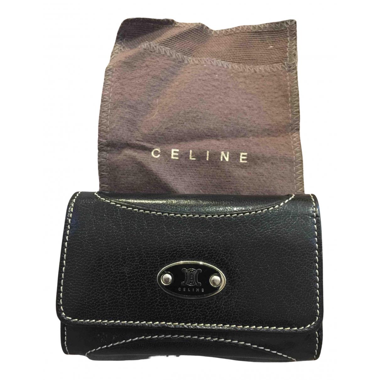 Celine - Portefeuille   pour femme en cuir - noir