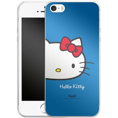 Apple iPhone SE Silikon Handyhuelle - Hello Kitty Closeup von Hello Kitty