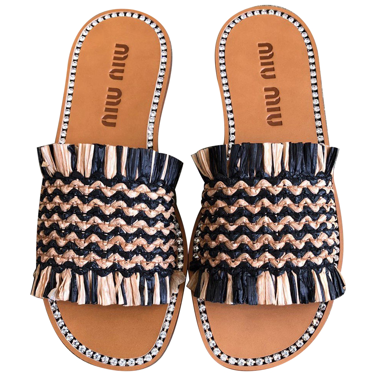 Miu Miu \N Brown Leather Sandals for Women 37.5 EU