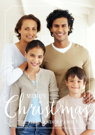 Christmas Photo Cards 5x7 Cards, Premium Cardstock 120lb with Rounded Corners, Card & Stationery -Christmas Framed Cheer