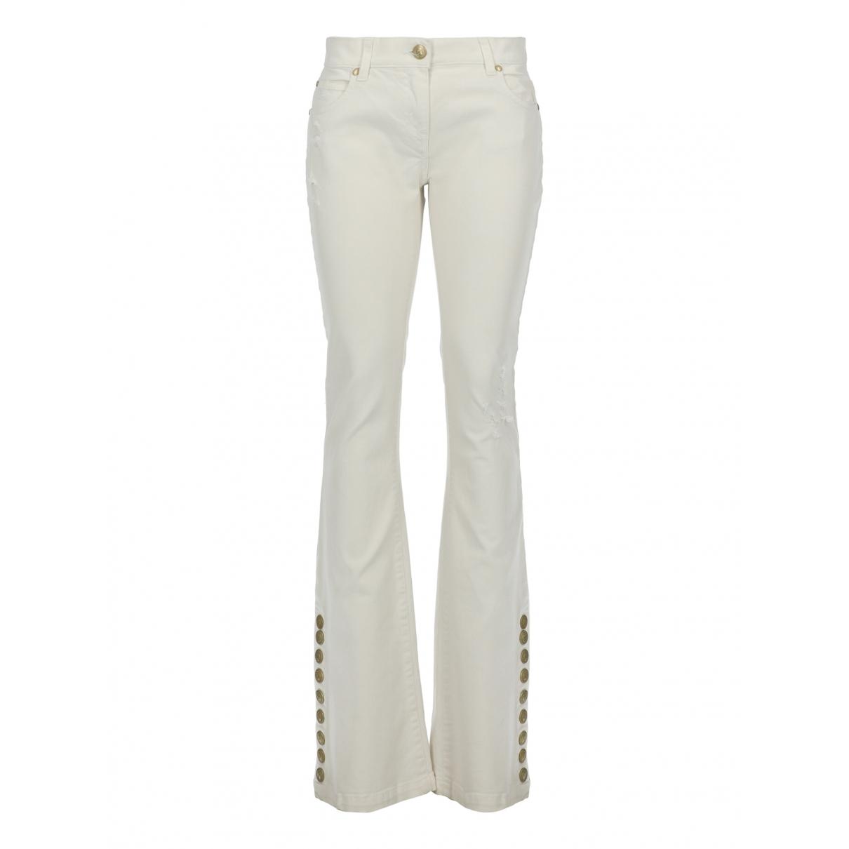 Balmain \N White Cotton Jeans for Women 27 US