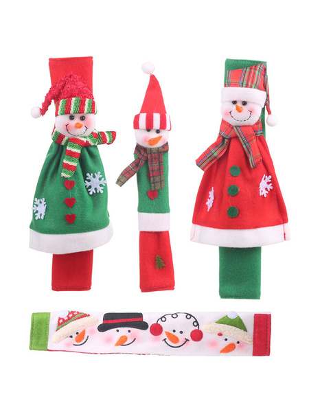 Milanoo Xmas Party Supplies Microwave Handle Cover 4-Piece Costume Decorations