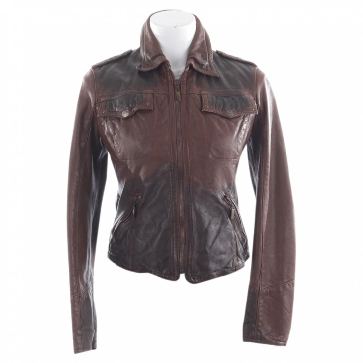 Just Cavalli - Veste   pour femme en cuir - marron