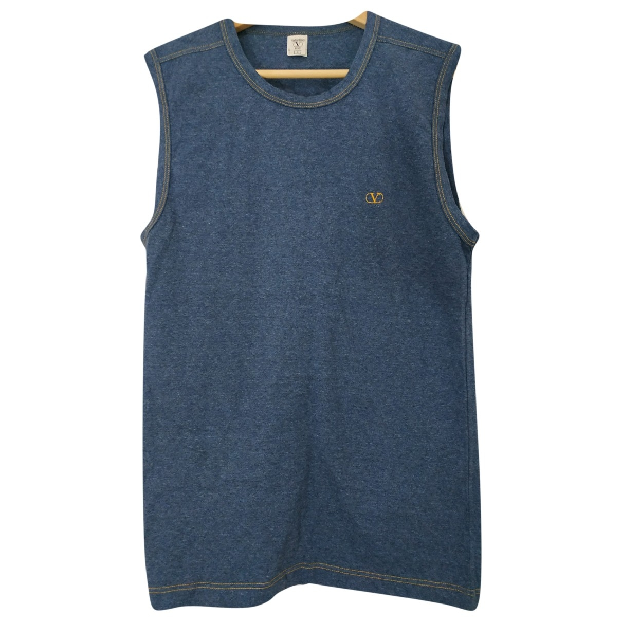 Valentino Garavani \N Blue Cotton T-shirts for Men 4 0 - 6