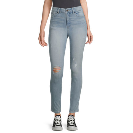 Arizona - Juniors Real Curve Womens High Rise Skinny Fit Jean, 7 , Blue