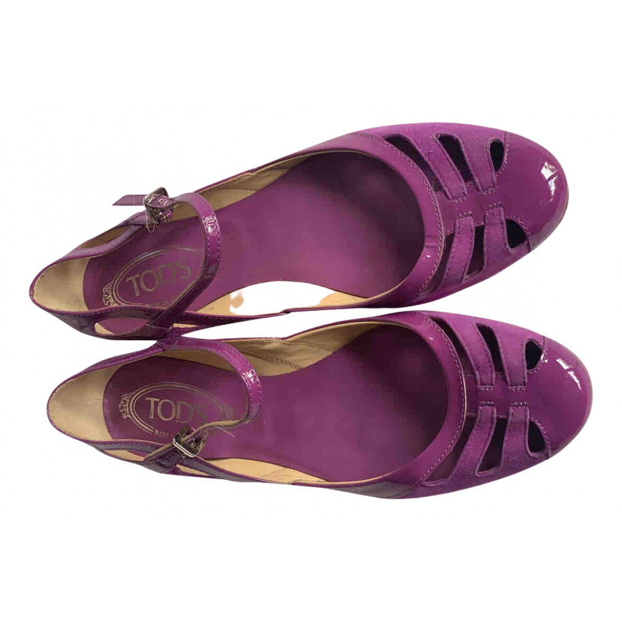 Tods \N Ballerinas in  Lila Lackleder