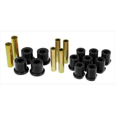Prothane Motion Control Leaf Spring Eye/Shackle Bushing Kit (Black) - 6-1020-BL