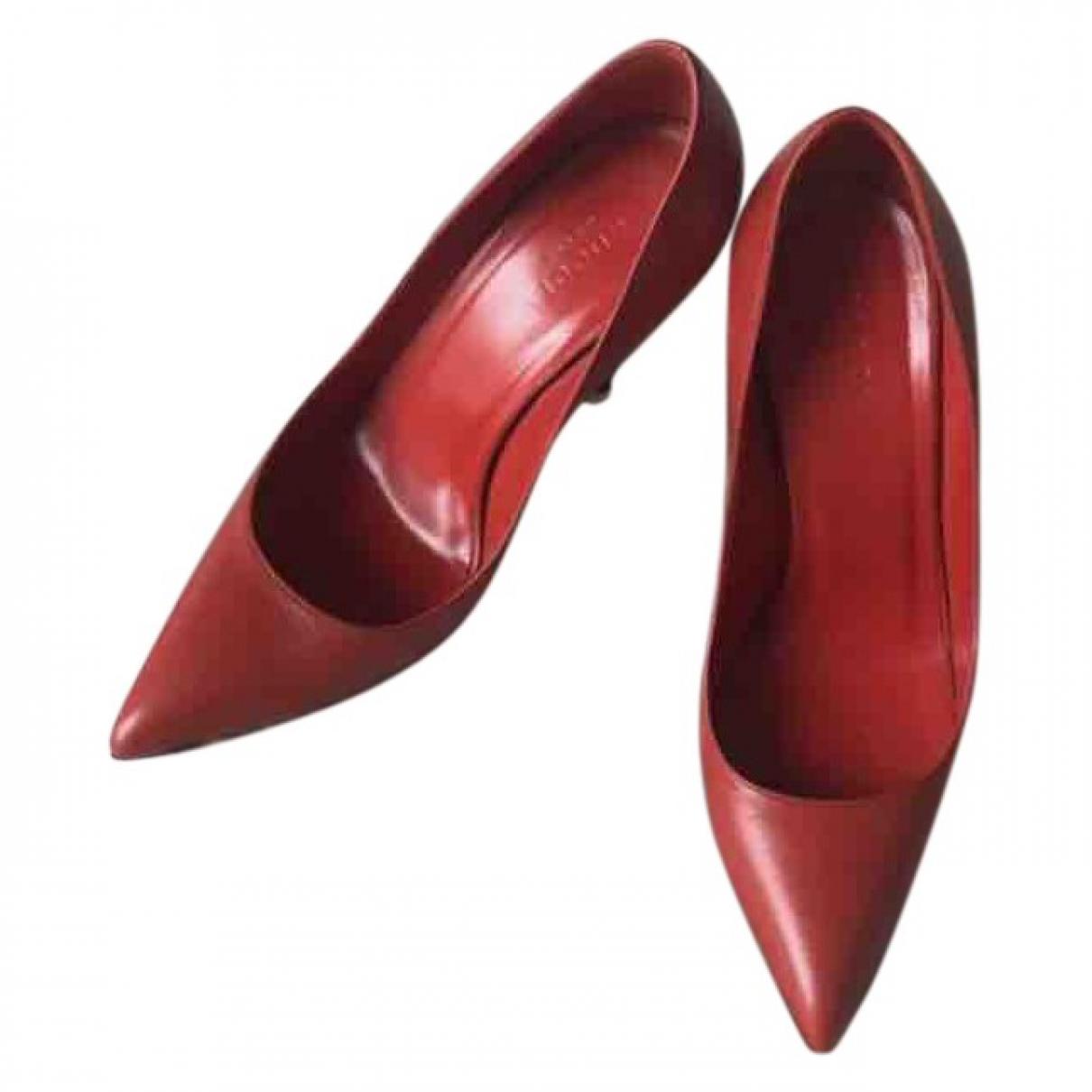 Gucci \N Red Leather Heels for Women 39.5 EU