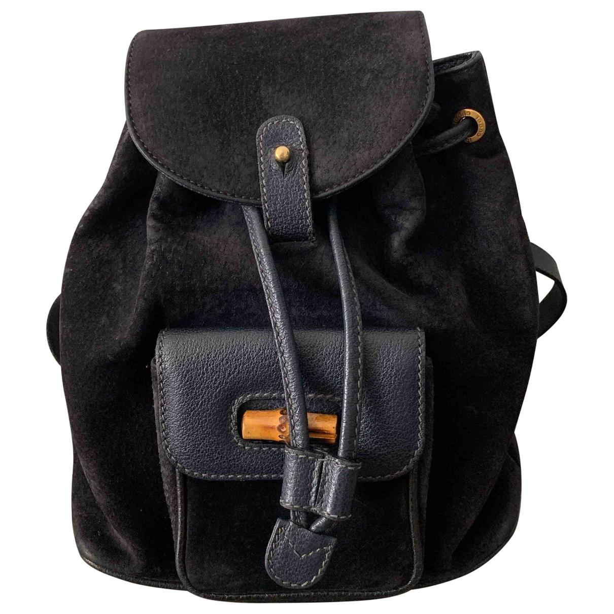 Gucci \N Black Suede backpack for Women \N