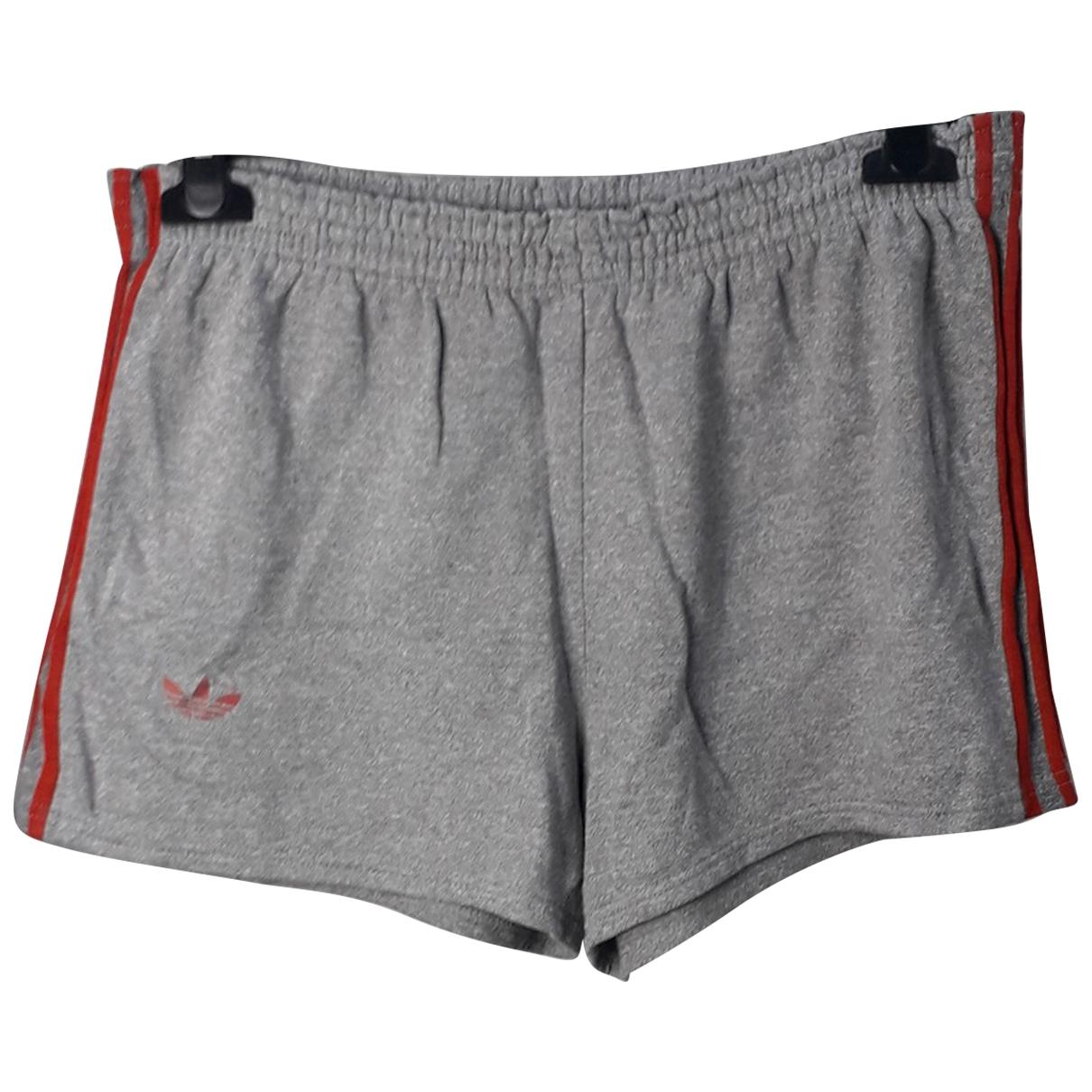 Adidas \N Shorts in  Grau Baumwolle