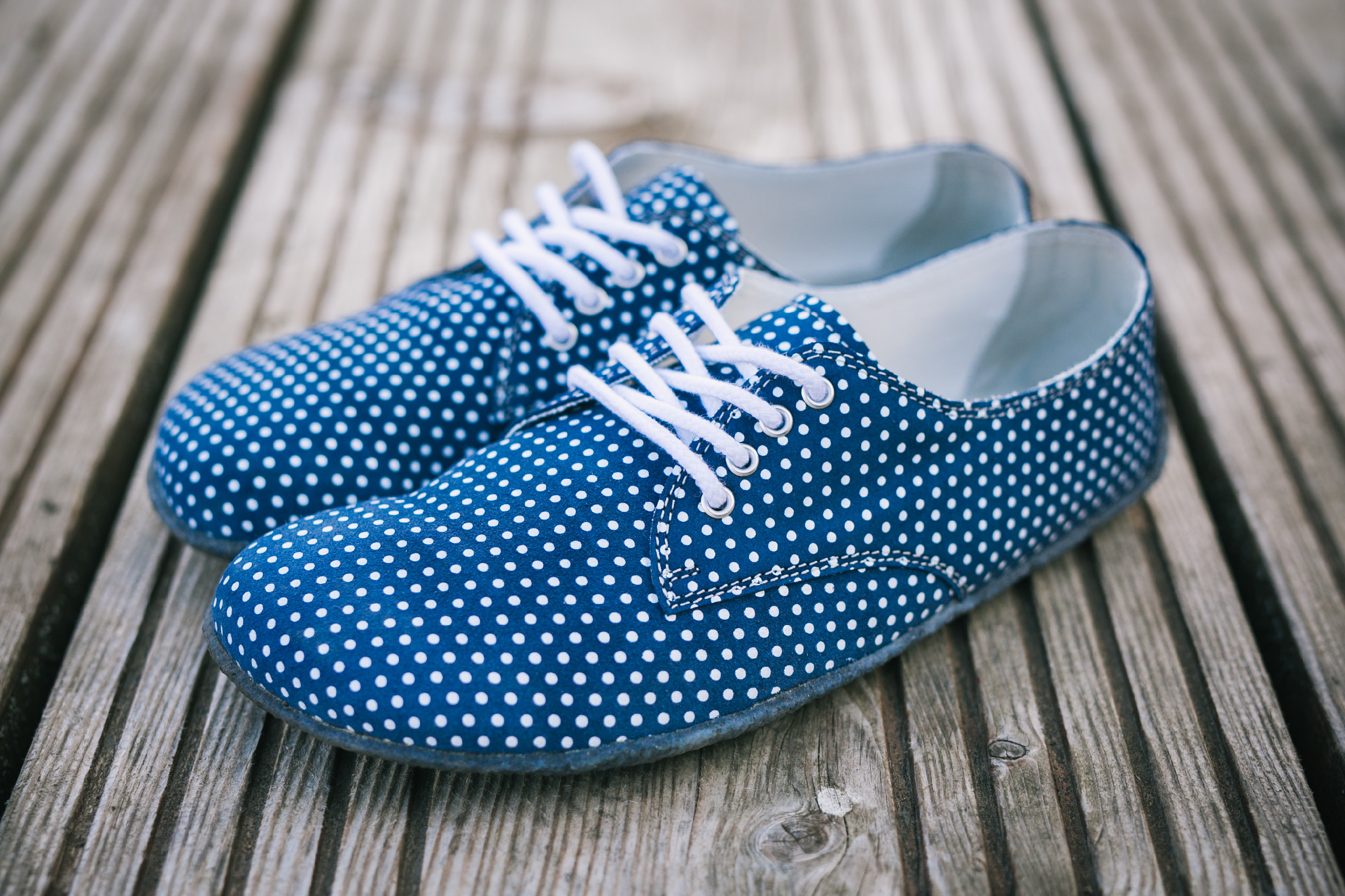 Barefoot Shoes - Be Lenka City - Dark Blue with White Dots '19 45