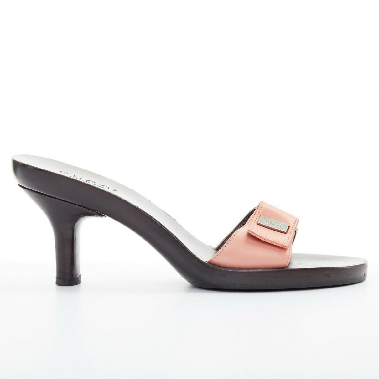 Gucci - Sandales   pour femme en cuir - rose