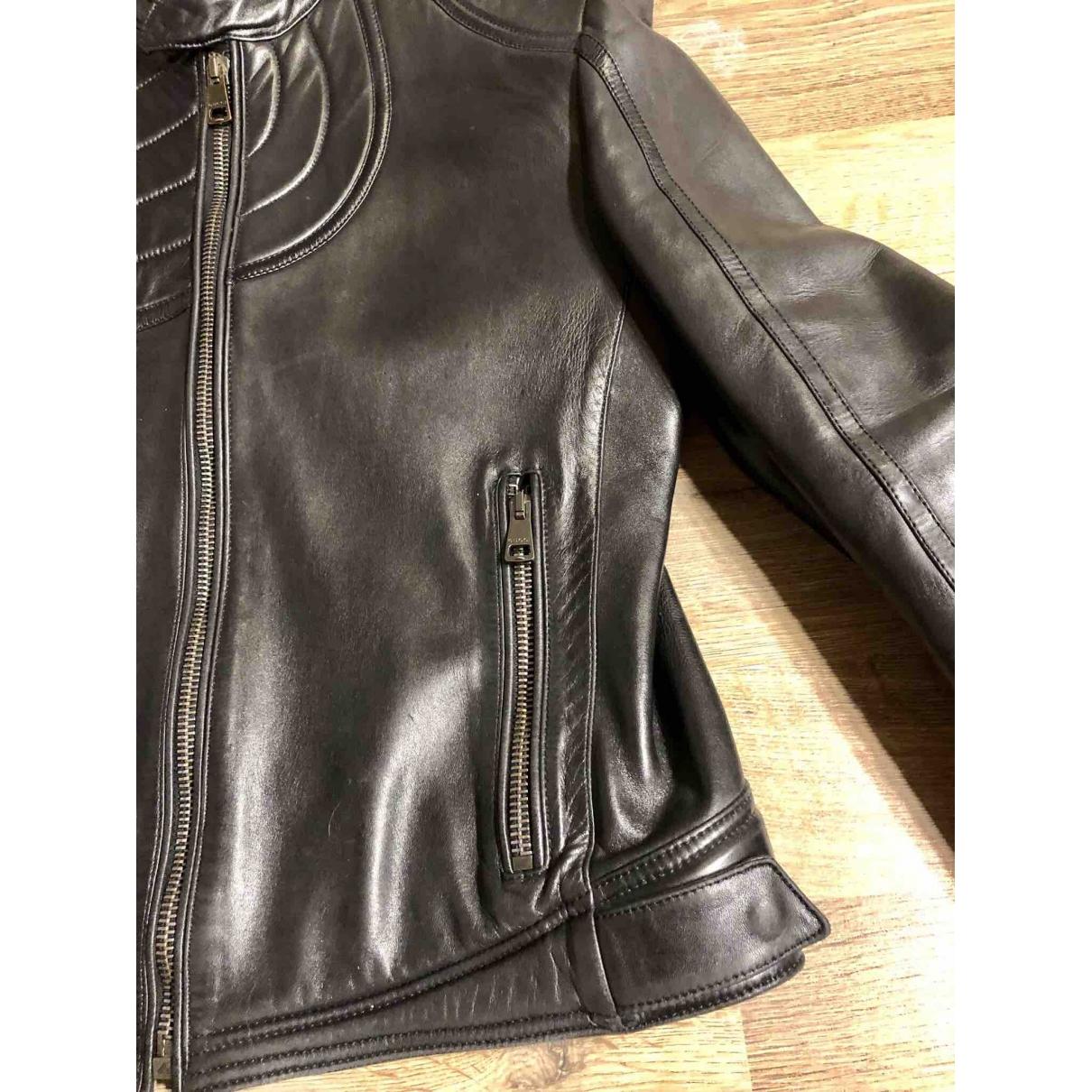 Gucci \N Black Leather jacket  for Men 50 IT