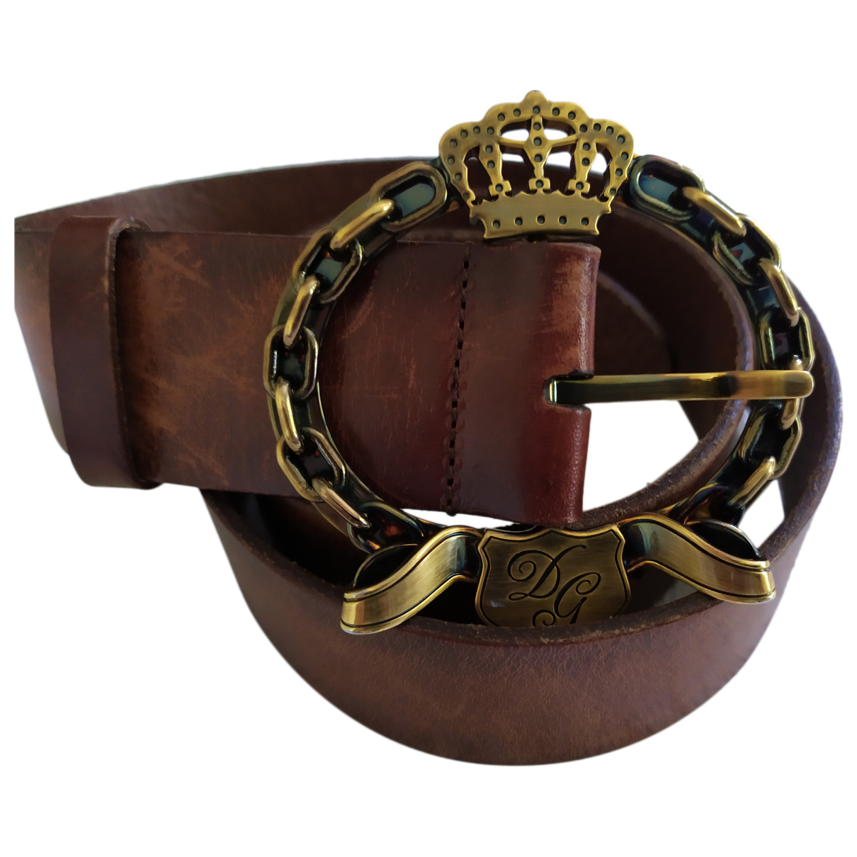 Dolce & Gabbana N Brown Leather belt for Women L International