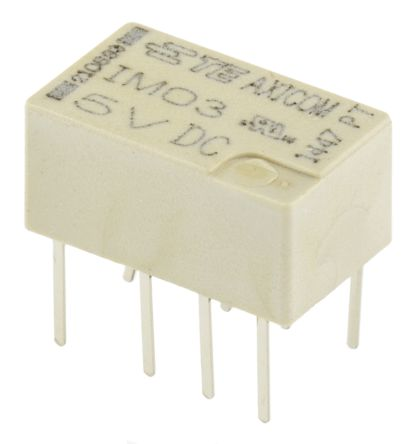 TE Connectivity , 5V dc Coil Non-Latching Relay DPDT, 2A Switching Current PCB Mount