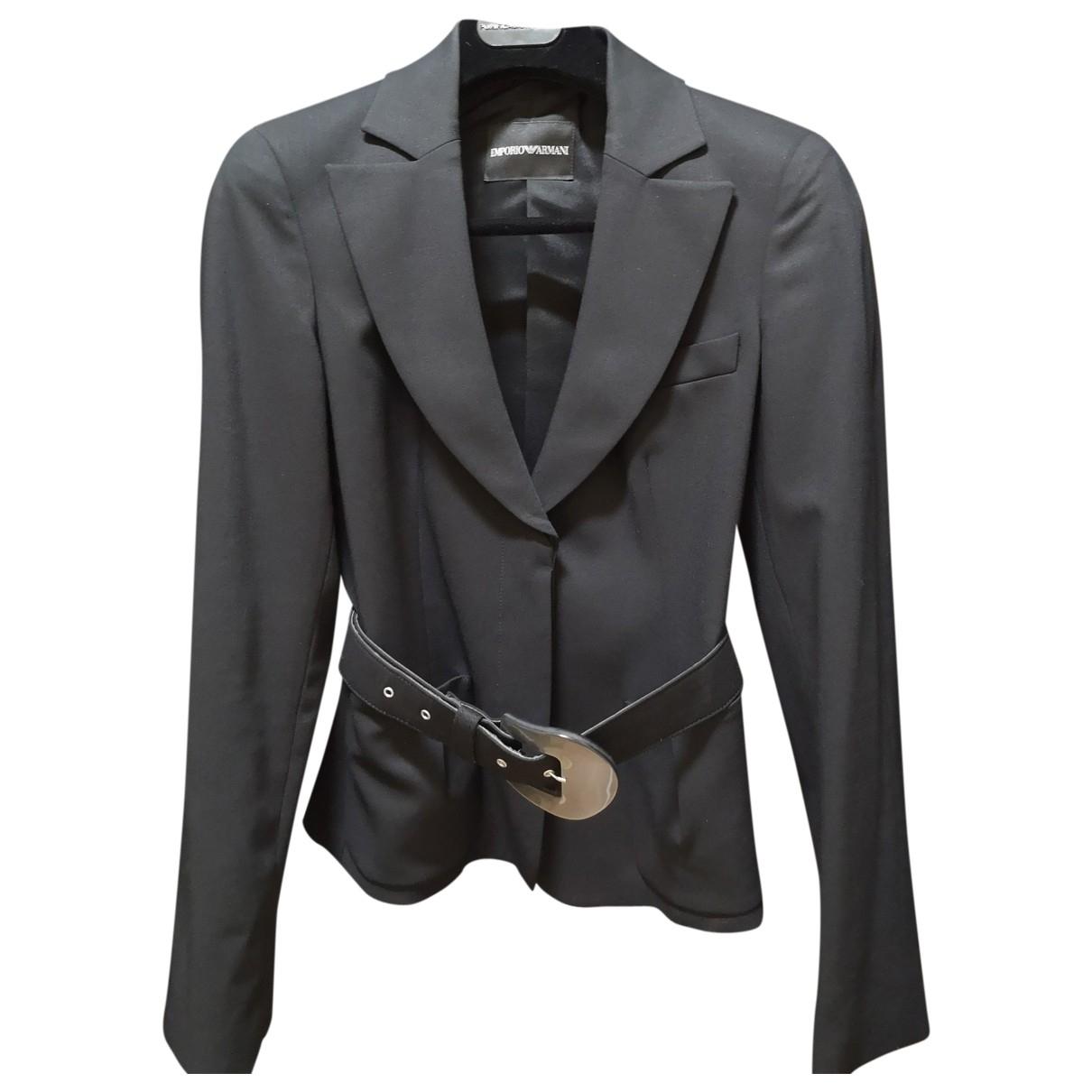 Emporio Armani \N Black Wool jacket for Women 42 IT