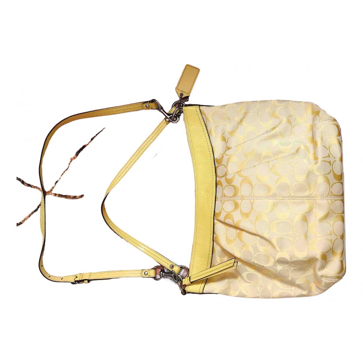 Coach Large Scout Hobo Yellow handbag for Women \N