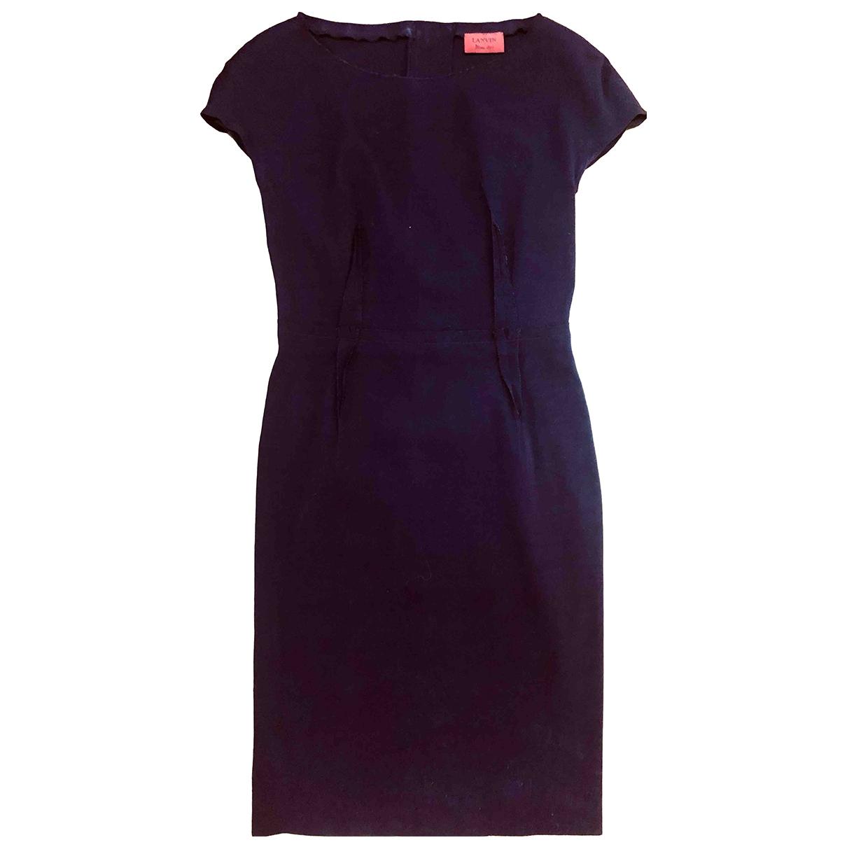 Lanvin \N Kleid in  Bordeauxrot Wolle