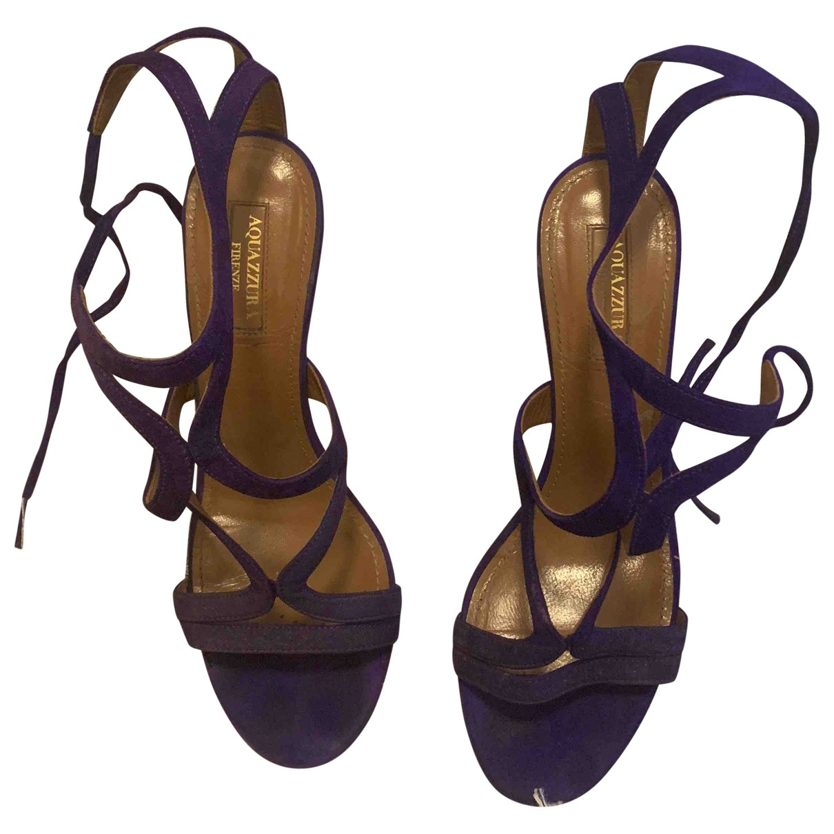 Aquazzura \N Purple Suede Sandals for Women 37 EU