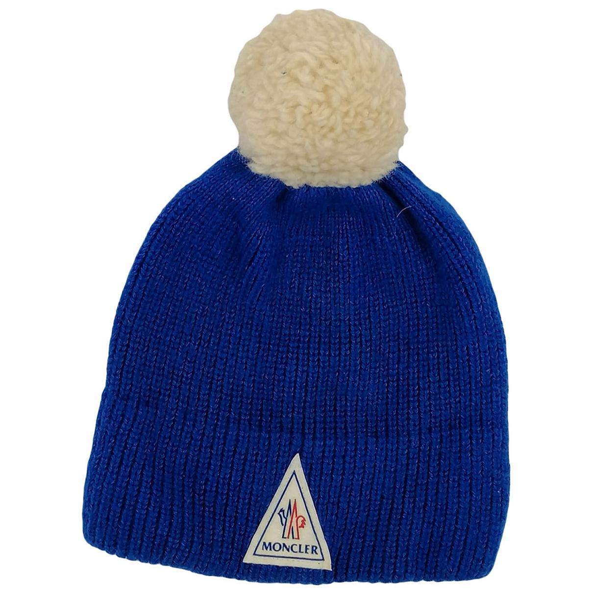 Moncler - Chapeau & Bonnets   pour homme en laine - bleu